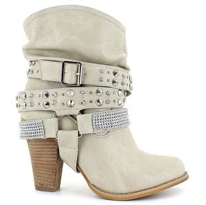 Hot Tomato Long Branch 9 Slouch Jeweled Boots Shoe